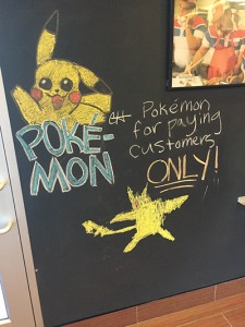 "Seen at a local pizza place. Business version of ""Get off my lawn!"""